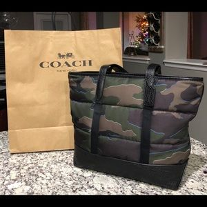 NWT Authentic Coach Camouflage Tote